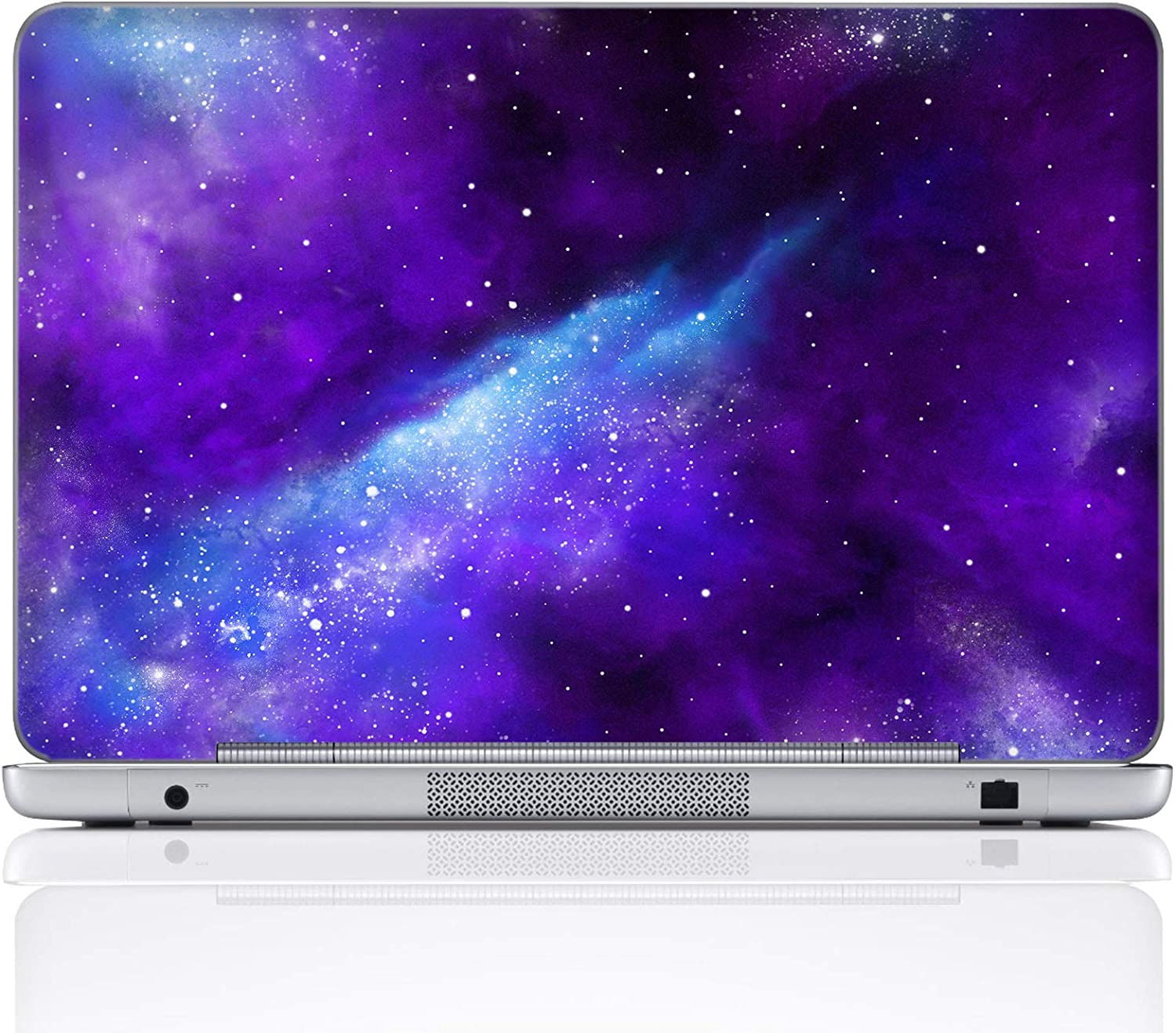 Meffort Inc 17 17.3 Inch Laptop Notebook Skin Sticker Cover Art Decal (Included 2 Wrist pad) - Galaxy Universe