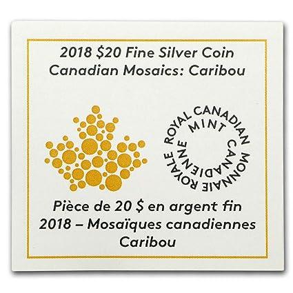 CANADA MOSAIC CARIBOU  SILVER 20$ 2018