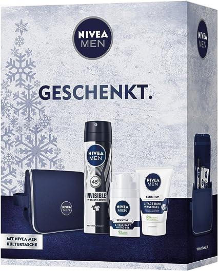 Nivea Men, set para barba de 3 días, primer pack (1 x 3 unidades ...