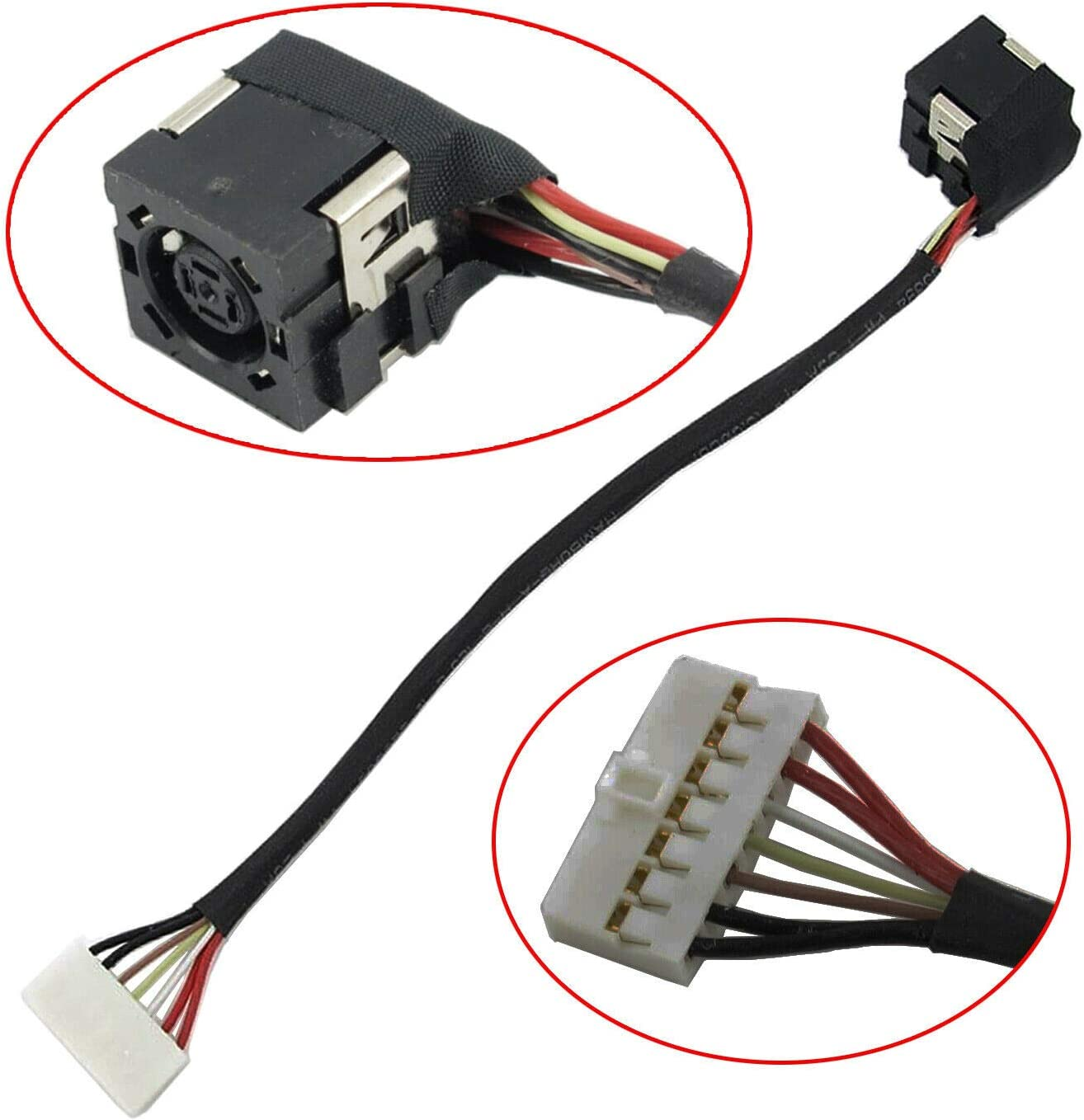 Nobrand Replacement DC Power Jack Charging Port Harness Cable Plug in Connector Socket for DELL Inspiron 15-3000 Series 3543 3542 3541 3878