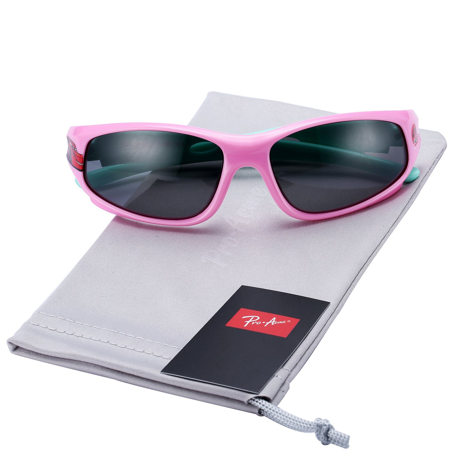 Pro Acme TR90 Unbreakable Polarized Sports Sunglasses for Kids Boys and Girls Pink PAK001A