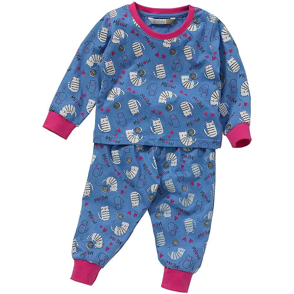 Lullaby Toddler Girls Cute Cats Kittens Meow Long Pyjamas