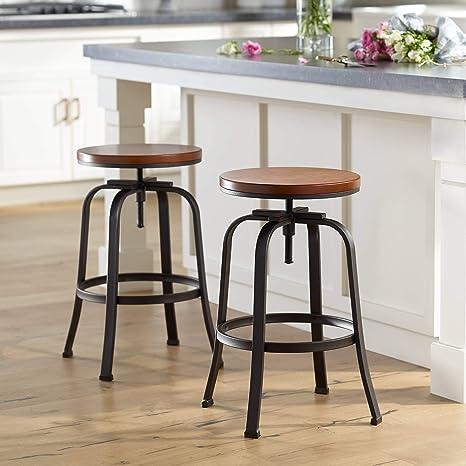 Fantastic Amazon Com Radin Hammered Bronze Adjustable Swivel Bar Cjindustries Chair Design For Home Cjindustriesco