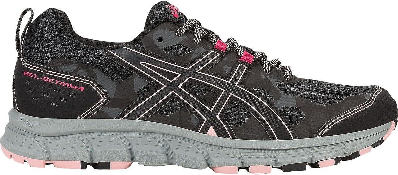 schwarz Dark grau 39.5 EU ASICS - Damen Gel-Scram 4 Schuhe
