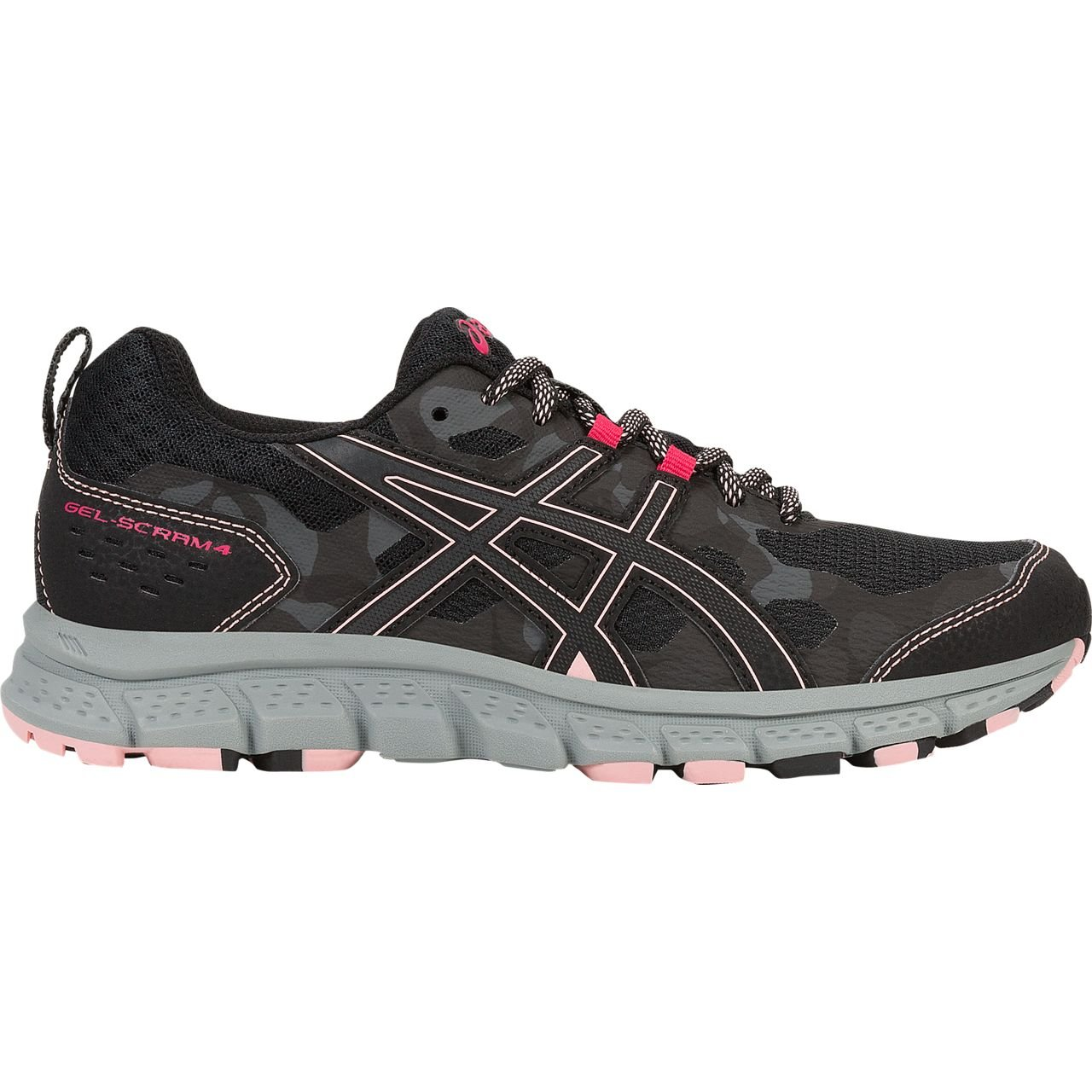 ASICS 1012A039 Women's Gel-Scram 4 Running Shoe, Black/Dark Grey - 5.5 B(M) US