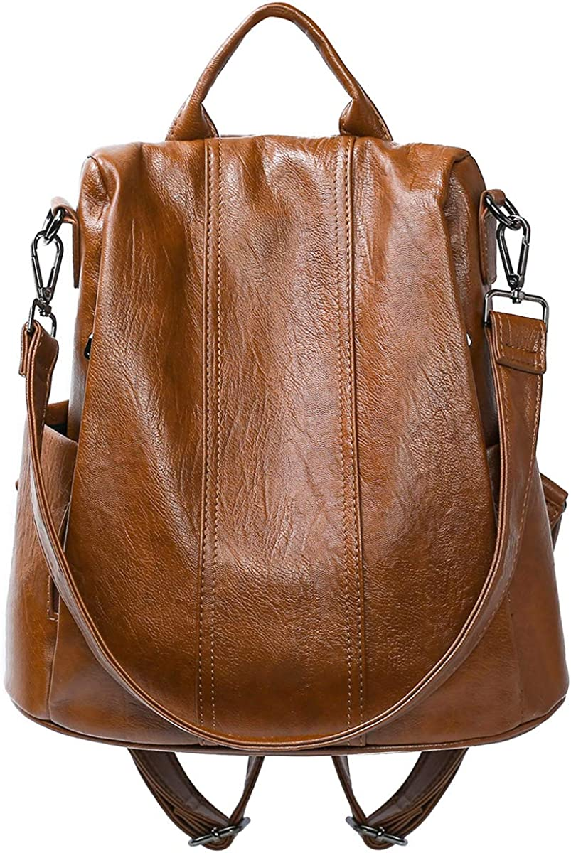 Women Backpack PU Leather...