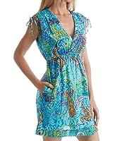 Lauren Ralph Lauren Women's Printed Tie-Shoulder Swimwear Cover-Up