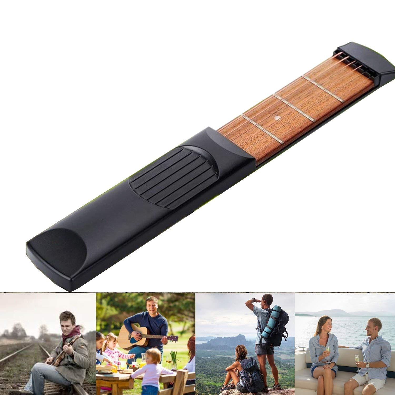 HJJH Pocket Guitar, Finger Exercise, 6 Fret Portable Guitar Trainer Practice Tool For For Beginner Fingering Chord Trainer