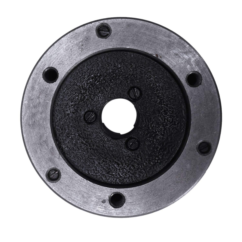 REFURBISHHOUSE Mandril de Torno de 3 Pulgadas y 3 Mand/íBulas K11-80 K11 80 80Mm Mandril Manual Piezas de Torno Autocentrante Accesorios de Torno de Metal Bricolaje