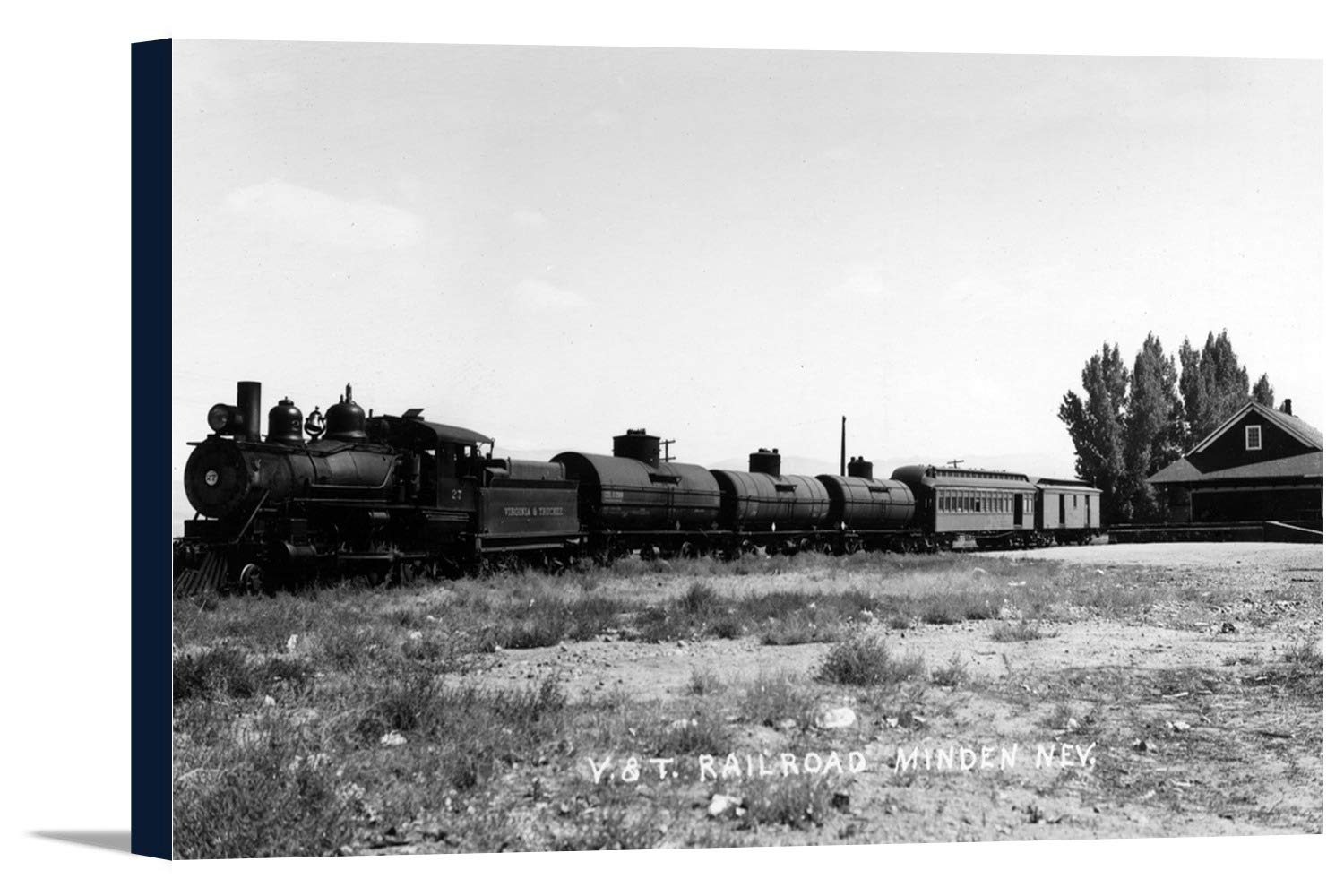 Minden、ネバダ州 – View of the Virginia and Truckee Railroad Train 36 x 22 1/4 Gallery Canvas LANT-3P-SC-10771-24x36 B018C2C9R4  36 x 22 1/4 Gallery Canvas