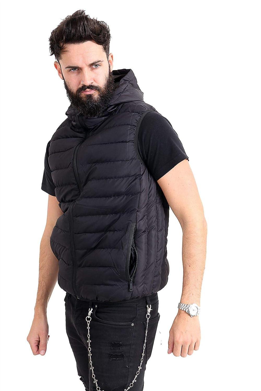 Westace New Mens Padded Puffa Gilet Lightweight Hooded Puffer Sleeveless Body Warmer