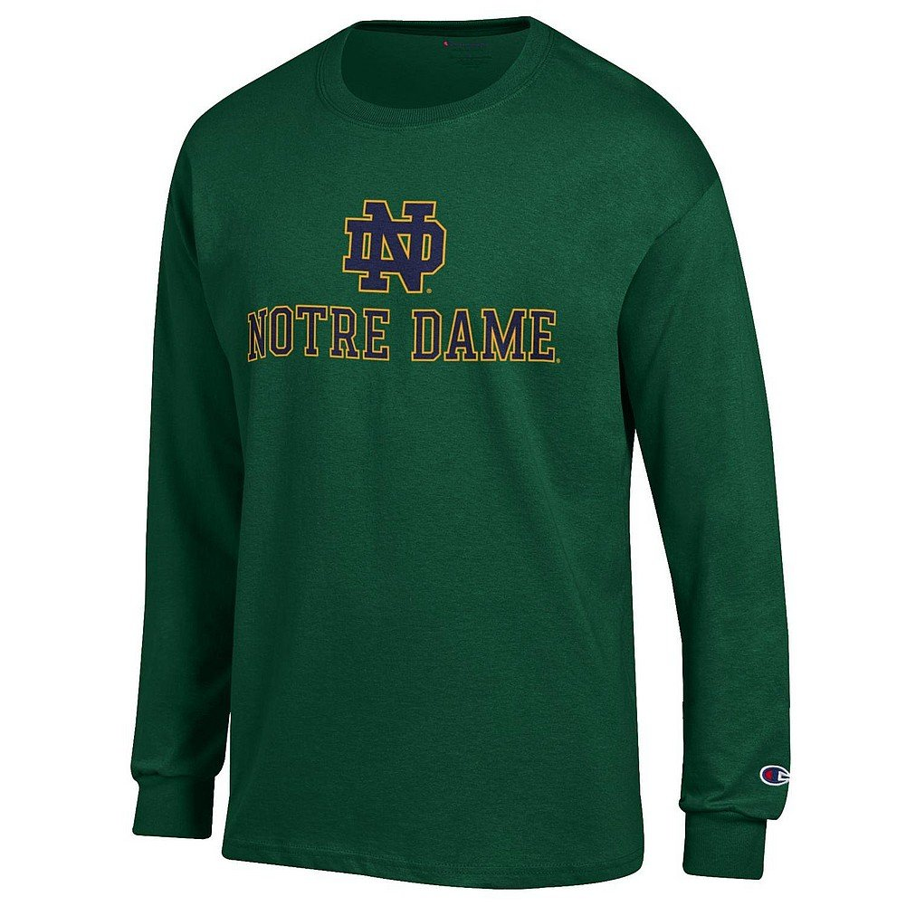 Notre Dame Fighting Irish Green XXLarge NCAA Mens Long Sleeve T Shirt Alt Arch