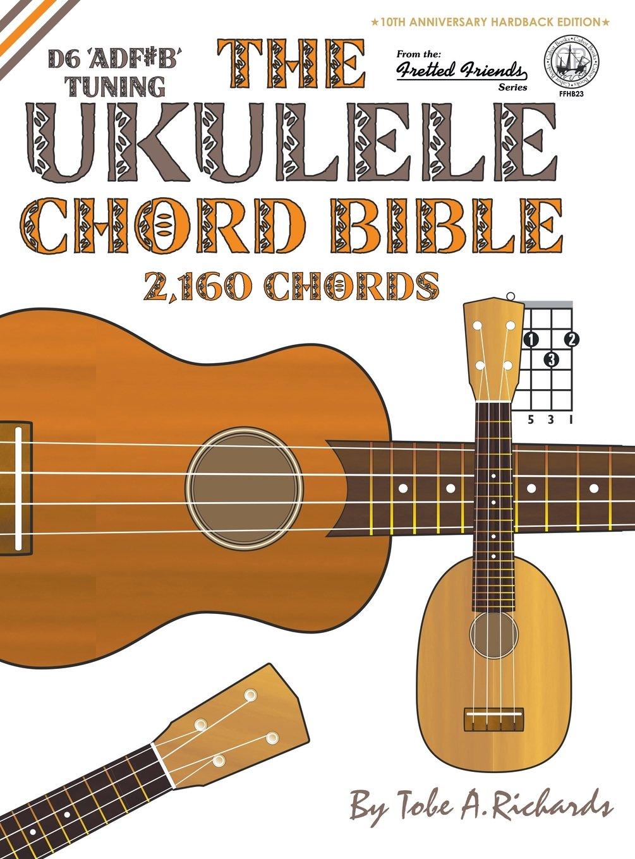 Amazon The Ukulele Chord Bible D6 Tuning 2160 Chords Fretted
