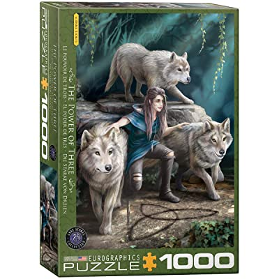 EuroGraphics The Power of Three by Anne Stokes 1000-Piece Puzzle: Toys & Games