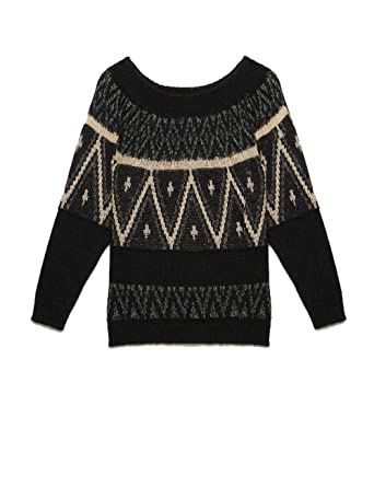 Motivi Damen Pullover Schwarz Schwarz X-Small  Amazon.de  Bekleidung 8bc2dc35c258
