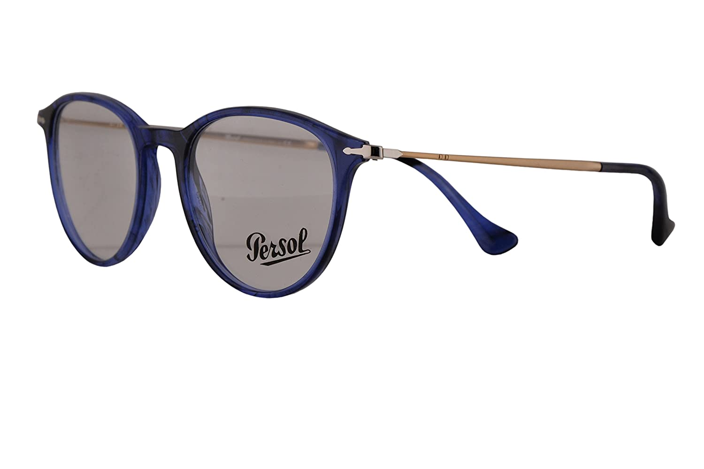 313b4fac3e Amazon.com  Persol PO3147V Eyeglasses 48-19-140 Striped Blue w Demo Clear  Lens 1053 PO3147-V PO 3147-V PO 3147V  Clothing