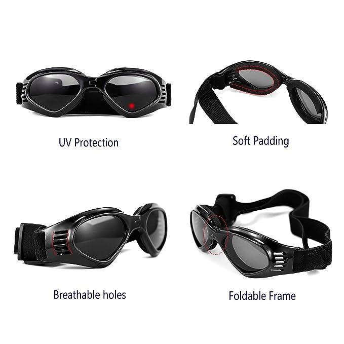 Amazon.com: Vevins - Gafas de sol para perro, protección UV ...