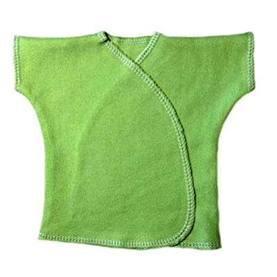 Jacqui's Unisex Baby Bright Green Short Sleeve Kimono T-Shirt