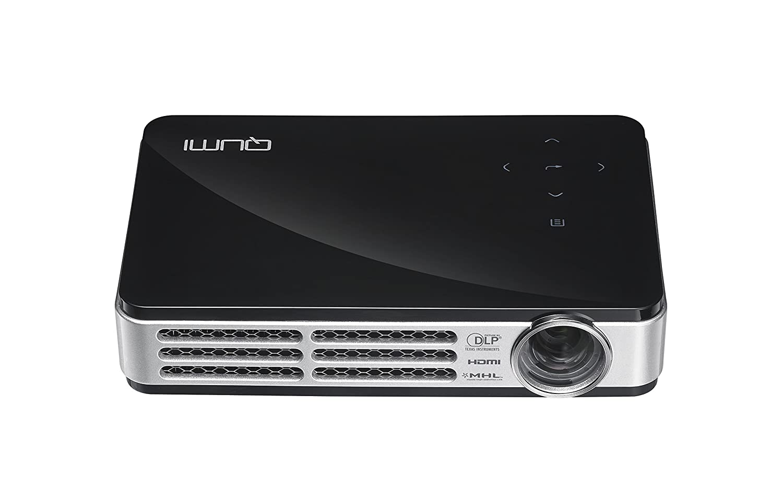 VIVITEK LED モバイルプロジェクター QUMI ブラック ( 高輝度 500ルーメン / WXGA / HD720P / DLP / Wi-Fiワイヤレス接続 / MHL / 超軽量480g ) Q5-R-BK B00QHFFAFM ブラック