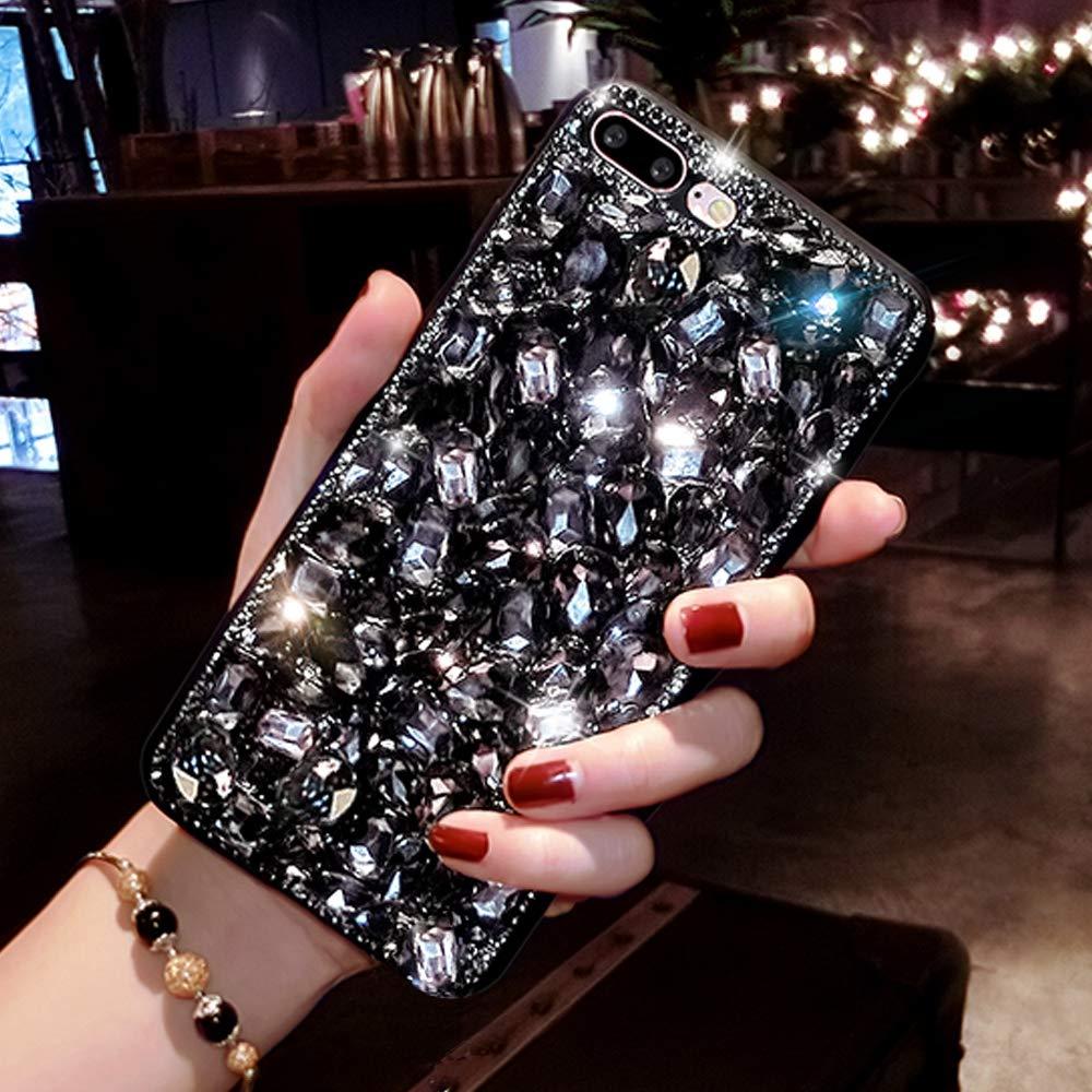 Luxus Glitzer H/ülle f/ür Huawei P30 Pro Silber Misstars 3D Bling Diamant Handyh/ülle Transparent Hart PC R/ückschale mit Silikon TPU Rahmen Schutzh/ülle f/ür Huawei P30 Pro