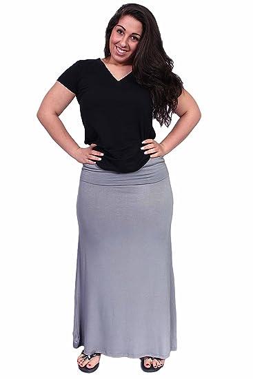 50abd4652b SHORE TRENDZ Plus Size Maxi Skirt at Amazon Women's Clothing store: