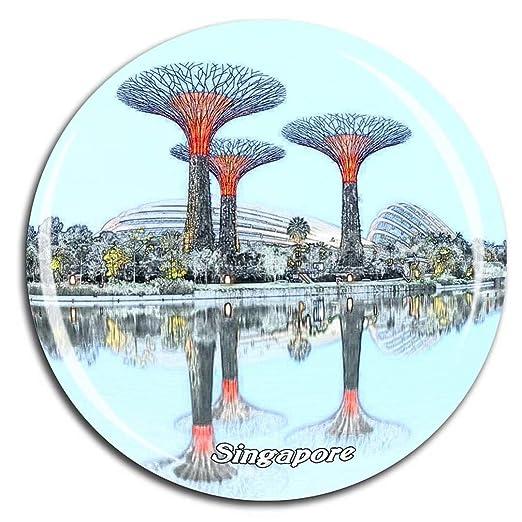 Weekino Singapur Singapur Imán de Nevera Cristal de Cristal 3D ...