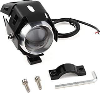 15W LED Motorrad U5 Scheinwerfer mit Schalter Netzkabel Motorrad vorne Scheinwerfer 12-80V LED Nebelscheinwerfer Lampe für Fahrzeuge, Motorräder, Fahrräder, Autos, LKW, Boot