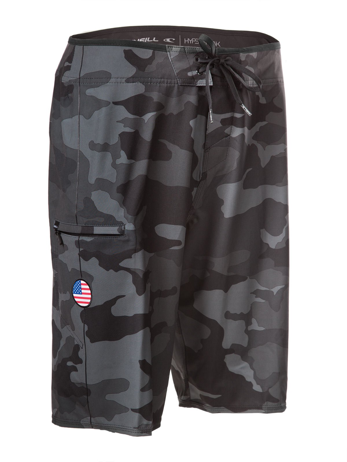 cd27ae83ba O'Neill GI Jack Patriotic Hyperfreak Boardshorts With American Flag Patch