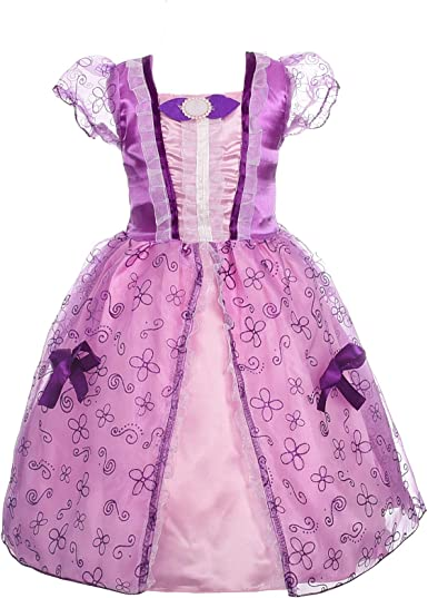 Dressy Daisy Girls Princess Dress up Fairy Tales Costume Cosplay Party with Long Braid Accessories