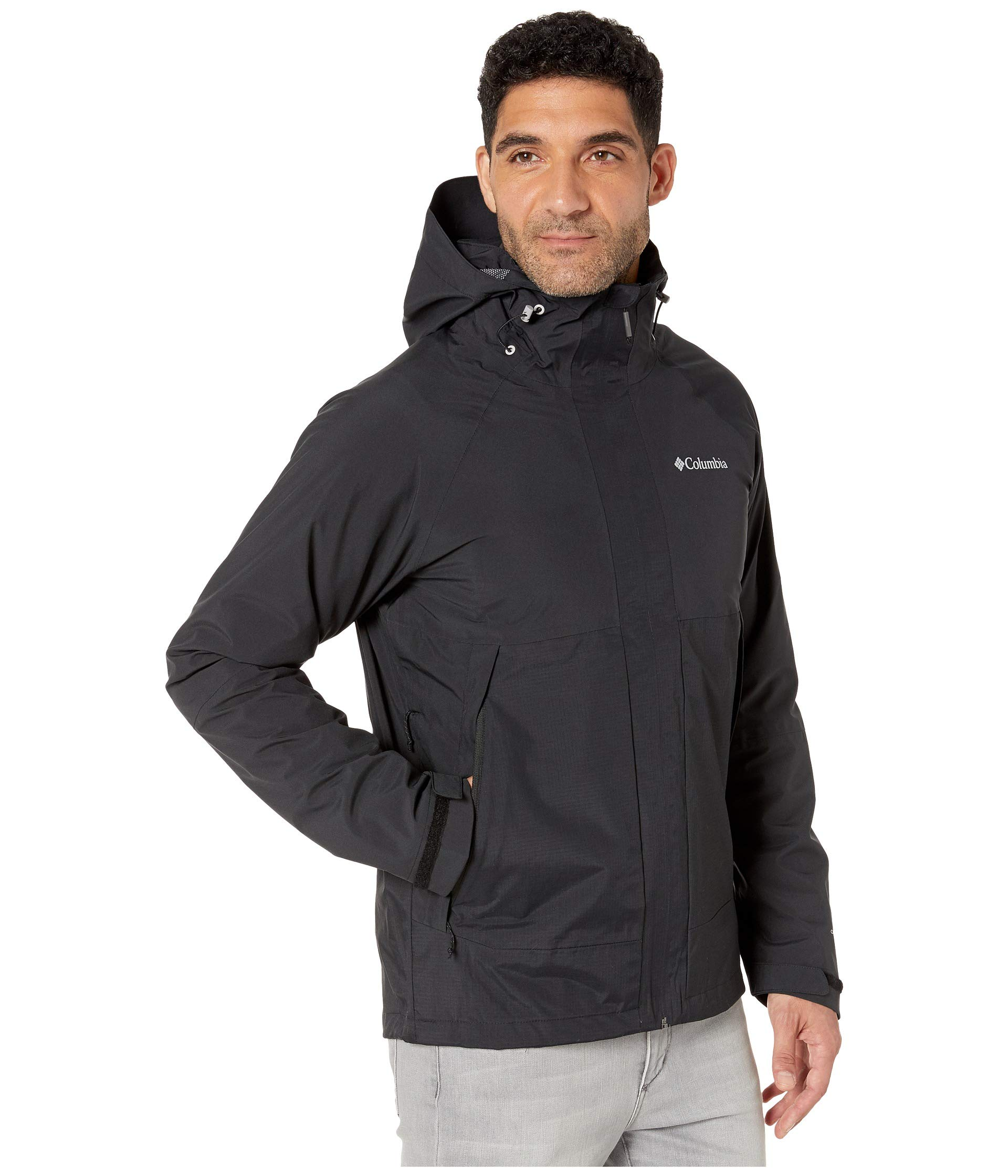 Columbia Men's Evolution Valley Rain Jacket, Black ...