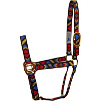 Hamilton 1-Inch Nylon Quality Halter for 800 to 1100-Pound Horse, Average, Navajo Pattern Black