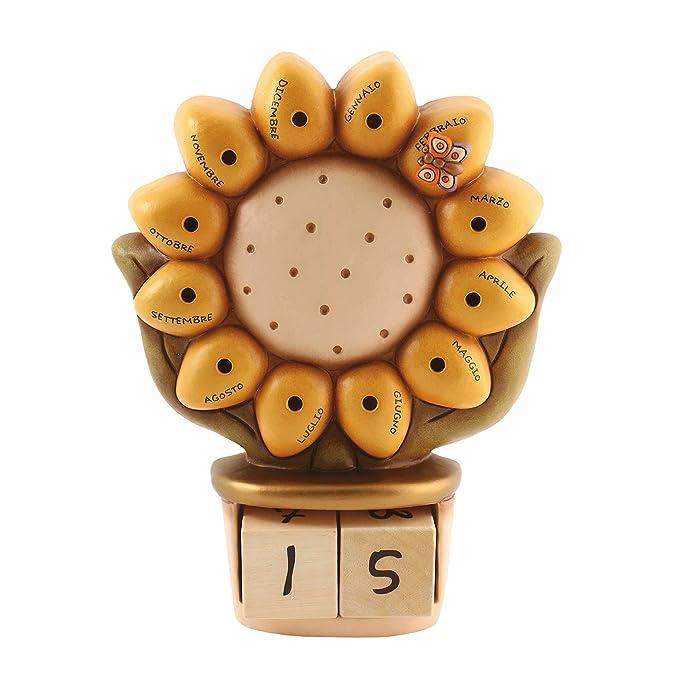 3 opinioni per THUN®- Soprammobile Calendario Perpetuo da Tavolo a Forma di Girasole- Ceramica