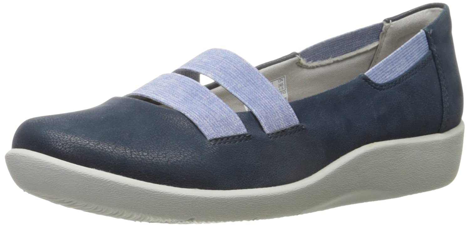 ba51f94d35466 Clarks Women's CloudSteppers Sillian Rest Mary Jane Flat, Navy, 6.5 M US:  Amazon.ca: Shoes & Handbags
