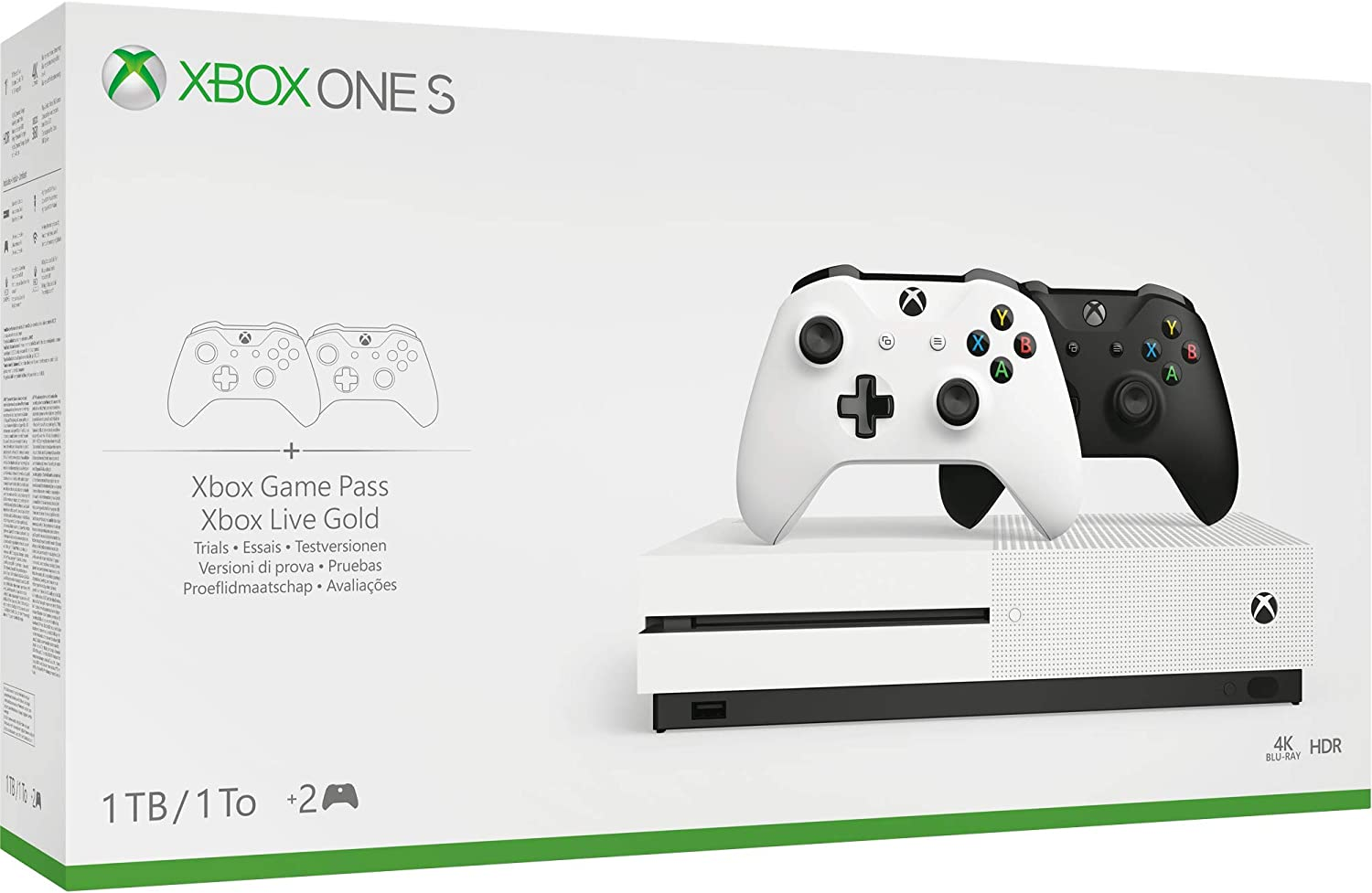 Pack Xbox One S con 2 mandos (Edición Exclusiva Amazon): Amazon.es: Videojuegos