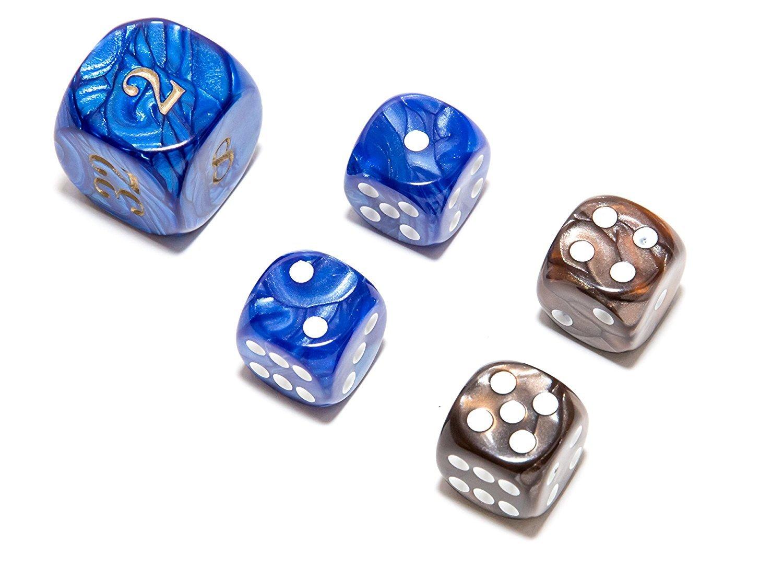 優れた品質 Bello Games Deluxe [並行輸入品] Marbleized Dice Sets-Brown/Blue 5 5/8 B074TGTJX3/8 [並行輸入品] B074TGTJX3, 熱い販売:4ddef58d --- arianechie.dominiotemporario.com