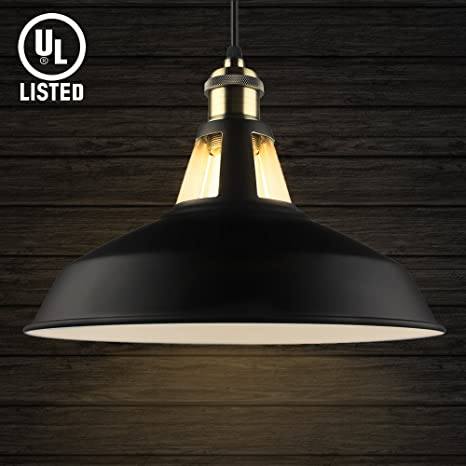 B2ocled Pendant Light Industrial Barn Antique Metal Dome Shade ...