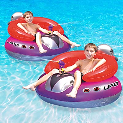 Swimline UFO Squirter Swimming Pool Floating Game, 2-Pack: Toys & Games