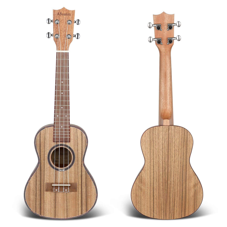 Afuaim Ukelele Concierto 23 Pulgadas Nuez Ukulele con Gig Bag para Principiantes Profesionales: Amazon.es: Instrumentos musicales