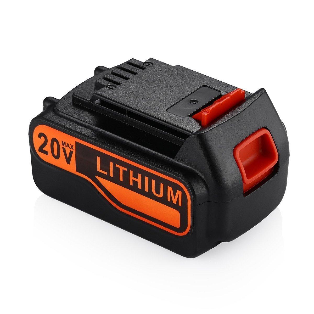 Powerextra 5.0Ah 20V MAX Replacement Battery for Black&Decker LBXR20 LBXR20-OPE LB20 LBX20 LBX4020 LB2X4020-OPE Black and Decker Lithium
