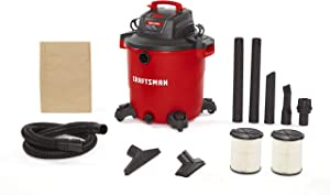 CRAFTSMAN CMXEVBE17596 20 Gallon 6.5 Peak HP Wet/Dry Vac, Heavy-Duty Shop Vacuum with Attachments and Additional General Purpose Filter