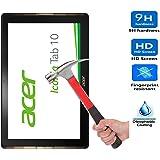 iBetter Acer Iconia Tab 10 A3-A40 Protector de Pantalla Cristal Vidrio Templado para Acer Iconia Tab 10 A3-A40 Tablet,transparente