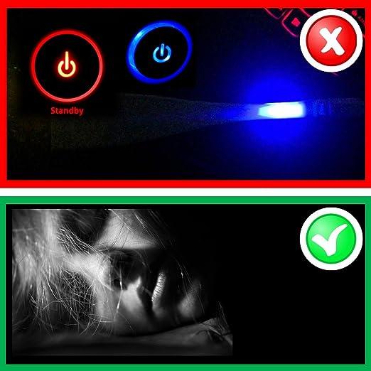 Luz LED de Bloqueo Covers (248 Pegatinas) para Routers, electrónica y aparatos Black out Edition Bloques 100% de luz por myspyblocker: Amazon.es: ...
