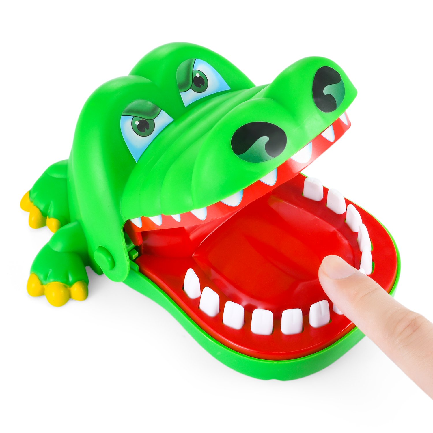 Crocodile Dentist - Parmeic Dinosaur bite finger game Novelty toy For Kids - 1 to 4 Players - Ages 4 and Up