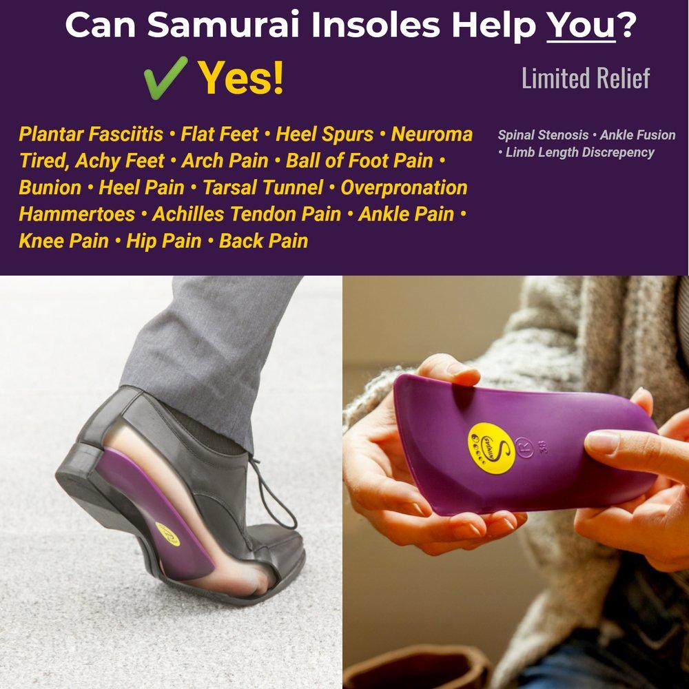 4b23805f34 Samurai Insoles Shoe Inserts Men Ninjas - M10-10.5/W12-12.5 ...