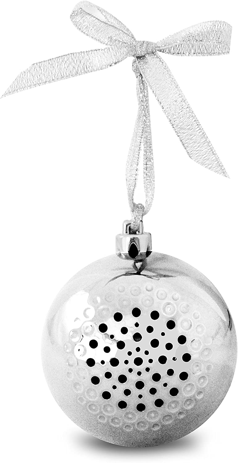 Life Made Tree Tunes Christmas Ornament Bluetooth Speaker for Smartphones - Retail Packaging - Silver