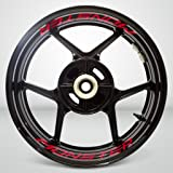 Reflective Red Motorcycle Inner Rim Tape Sticker