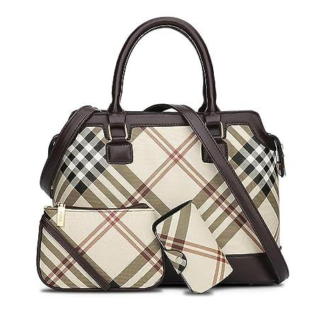 recoco 3pc Set oficina dama mujer mango bolsos grandes de hombro cruzado mochila bolso de lugar