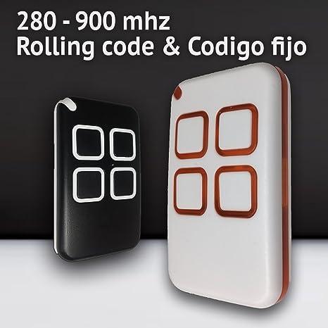 MD7 Mando DE Garaje Compatible Universal TRINARIOS BINARIOS (280-868) MHz MANDOS Puertas