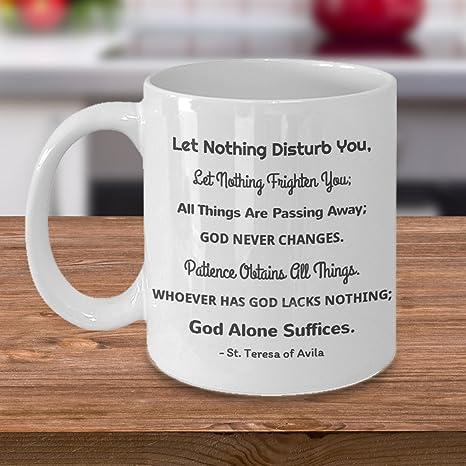 Amazoncom Religious Gift St Teresa Of Avila Saint Quote Let