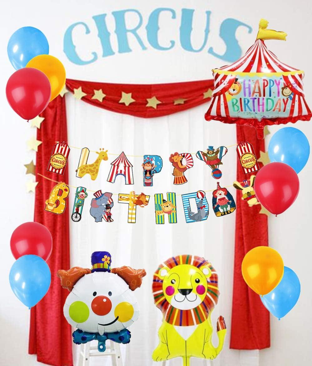 Carnival Party Circus Balloon Big Top Birthday Mylar Balloon 36 Inch Circus Party Circus Birthday Giant Big Top Mylar Balloon